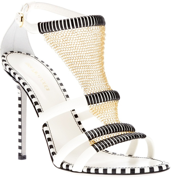 Sergio Rossi sandal with chain detail