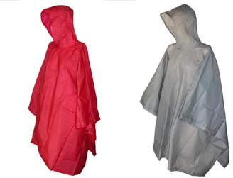 totes ISOTONER Hooded Pullover Rain Poncho with Side Snaps (Pack of 2)