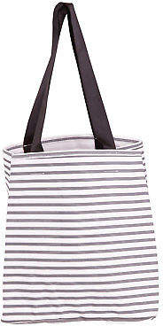 Holiday NEW Womens Totes Villa Stripe Tote Bag Size OneSize Charcoal