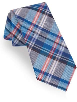 Ted Baker Plaid Cotton & Linen Tie