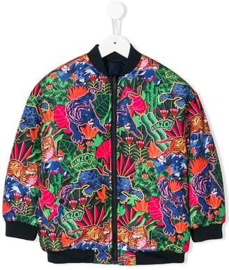 Kenzo (ケンゾー) - Kenzo Kids Tiger print bomber jacket