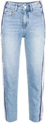 Sjyp side stripe jeans