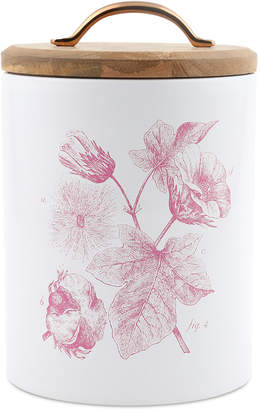 Thirstystone CLOSEOUT! Large Floral Canister with Wood Top