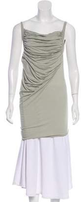 Rick Owens Lilies Ruched Sleeveless Top