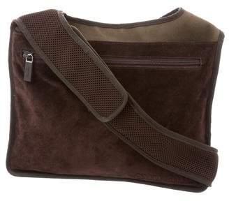 Miu Miu Suede-Accented Crossbody Bag