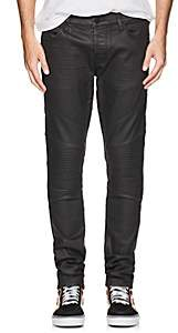 J Brand MEN'S BEARDEN WAXED MOTO JEANS