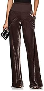 Rick Owens Women's Bias-Cut Velvet Wide-Leg Pants - Raisin