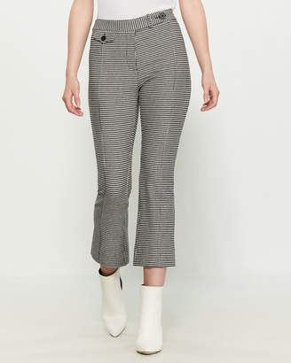Derek Lam 10 Crosby Black & White Flare Leg Crop Trousers