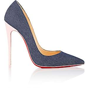Christian Louboutin Women's So Kate Denim & Patent Leather Pumps - Blue