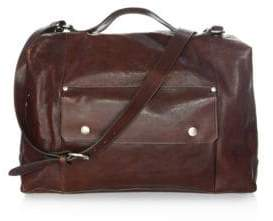 Il Bisonte Adjustable Strap Leather Weekender Bag