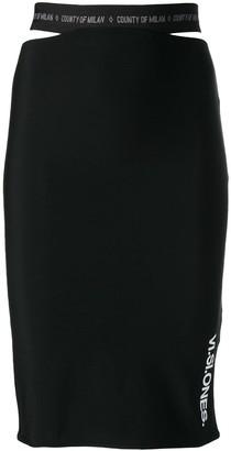 Marcelo Burlon County of Milan Visione print skirt