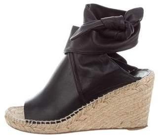 Celine Leather Espadrille Sandals