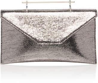 M2Malletier Annabelle Metallic Leather Clutch