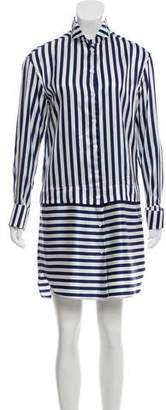 Burberry Striped Silk-Blend Dress