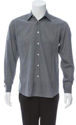 Prada Gingham Button-Up Shirt
