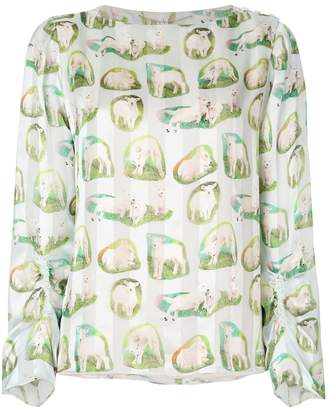 Carven lamb print blouse