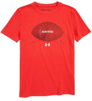 Under Armour Aerial Football HeatGear(R) Charged Cotton(R) T-Shirt