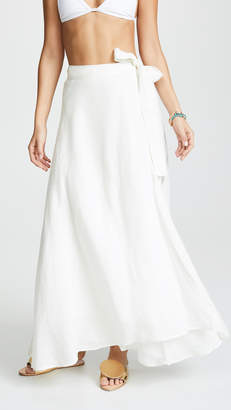 Vitamin A Positano Linen Cover Up Skirt