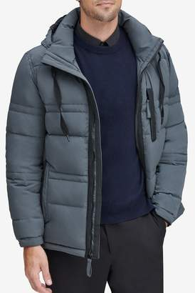 Andrew Marc Huxley Removable Hood Crinkle Down Jacket