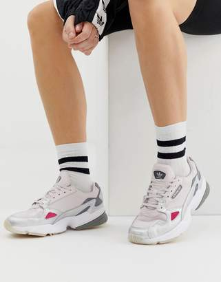 26cb14670 adidas Falcon Trainer In Grey And Silver