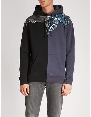 Marcelo Burlon County of Milan Snake Wing Split cotton-jersey hoody