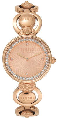 Versus By Versace Versus Women's Victoria Harbour Rose Gold-Tone Stainless Steel Bracelet Watch 34mm