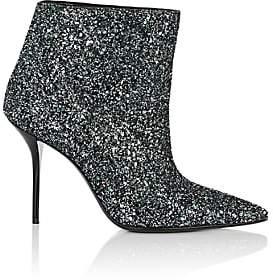 Saint Laurent Women's Pierre Glitter Ankle Boots - Green