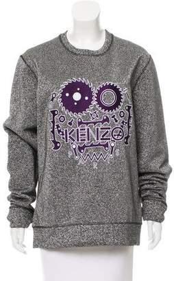 Kenzo Long Sleeve Metallic Sweatshirt