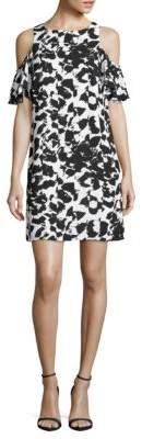 Printed Cold-Shoulder Dress $158 thestylecure.com