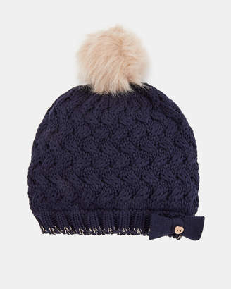 Ted Baker CECILEE Pom detail beanie hat
