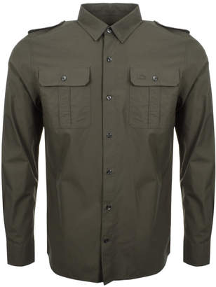 Lacoste Live Poplin Long Sleeved Shirt Green