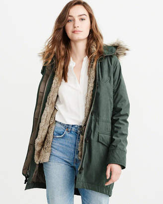Abercrombie & Fitch 3-in-1 Faux Fur Lined Parka