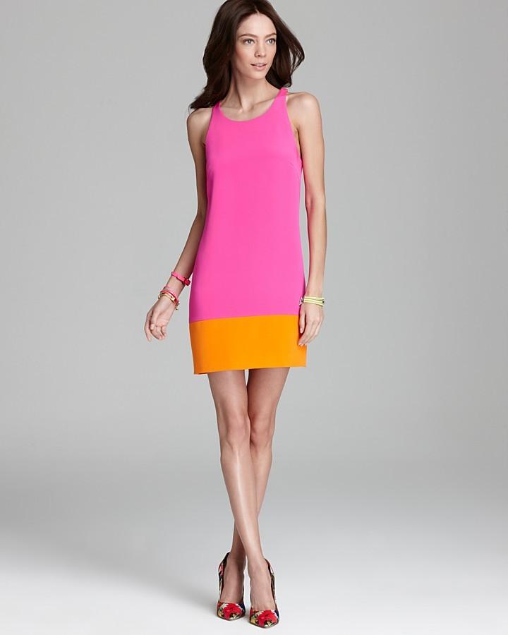 Jay Godfrey Shift Dress - Tank Colorblock