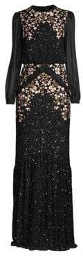 Saloni Isa Embellished Blouson Gown