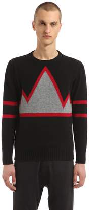 Annapurna Mountain Intarsia Cashmere Sweater