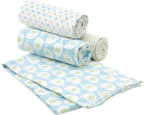 Carters Carter's 4 Pack Receiving Blanket - Elephant