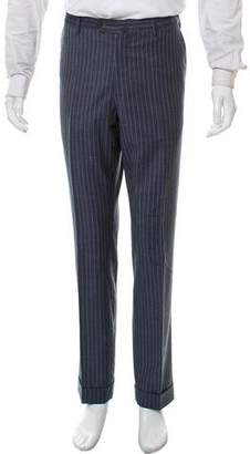 Borrelli Pinstripe Virgin Wool Pants