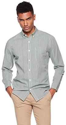 Wood Paper Company Men's Long Sleeve Slim Fit Button-Down Collar Single Pocket Mini-Gingham Shirt