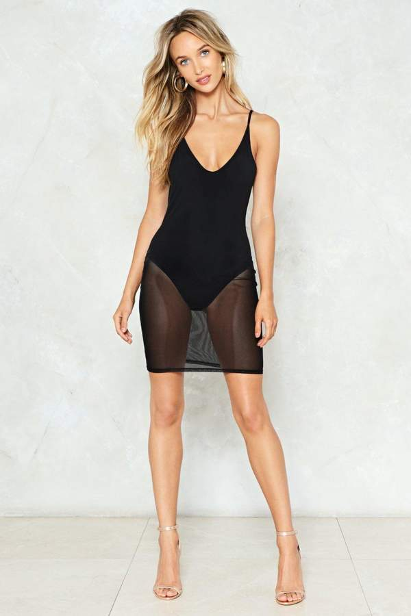 nastygal I Can See Clearly Now Mesh Dress