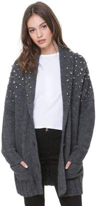 Juicy Couture Embellished Shawl Collar Cardigan