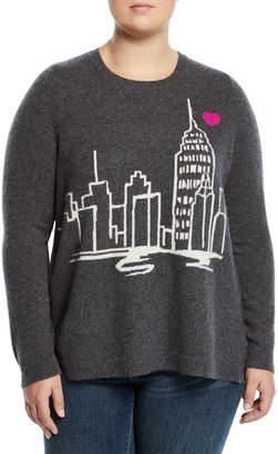 Neiman Marcus Cashmere New York Sweater, Plus Size