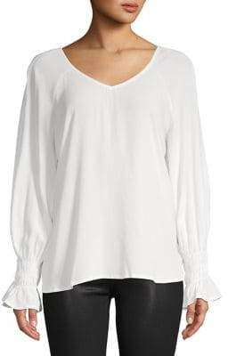 Bobeau B Collection by Viena V-Neck Blouse