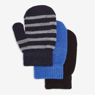 Joe Fresh Toddler Boys' 3 Pack Knit Mitts, Dark Navy (Size O/S)
