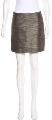 Burberry Metallic Mini Skirt