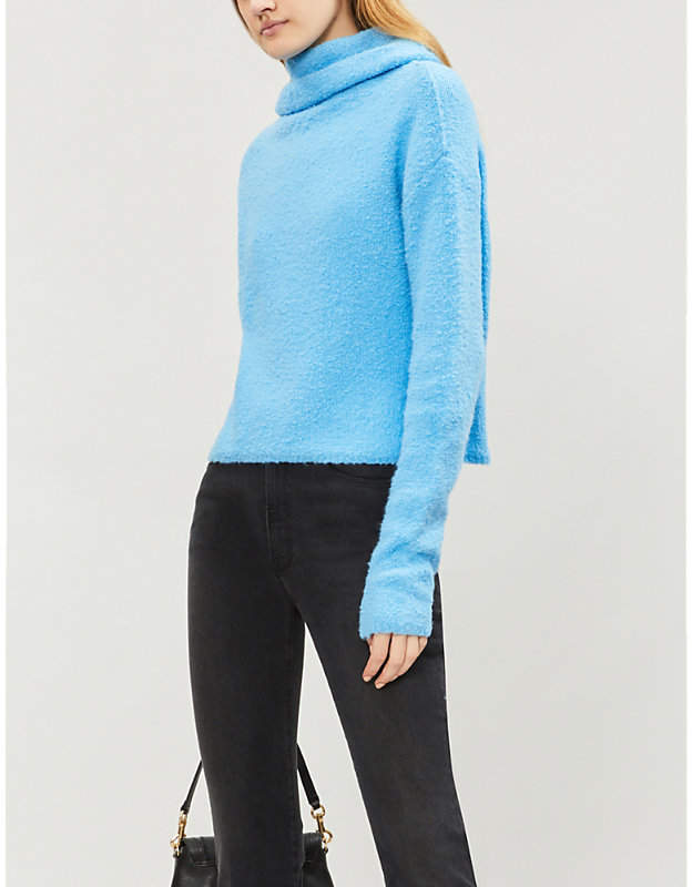 Stormy cowl-neck knitted jumper