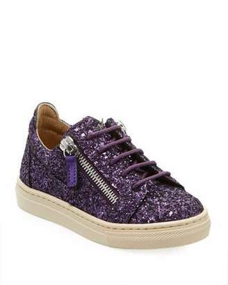 Giuseppe Zanotti Old Glitter Low-Top Sneaker, Toddler