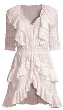 LoveShackFancy Bec Ruffled Mini Dress