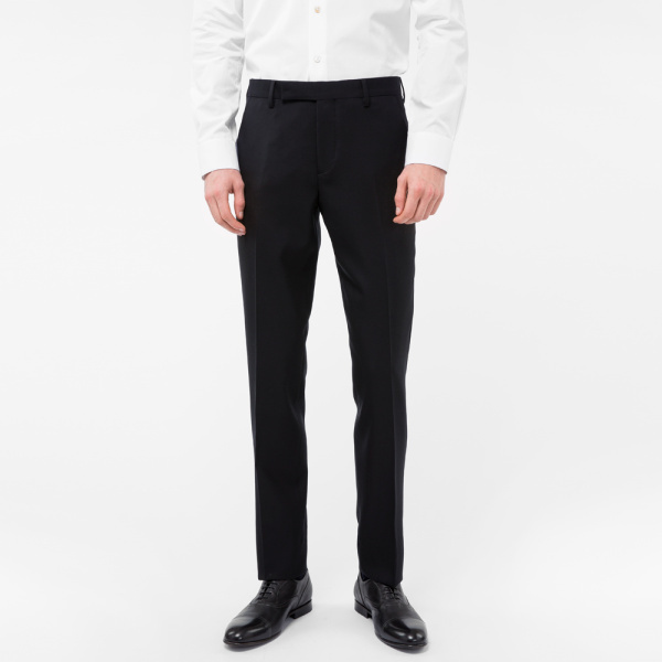 Paul SmithA Suit To Travel In - Men's Slim-Fit Black Wool Trousers