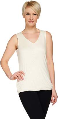 Halston H By H by Wrap Front Knit V-Neck Sleeveless Top
