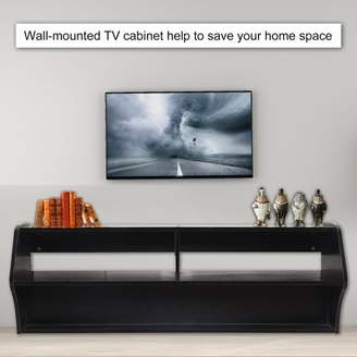COLORFUL 48.5 Inch Wall Mounted Console Universal TV Stand Floating TV Unit Cabinet Contempory Book Shelf Living Room Furniture